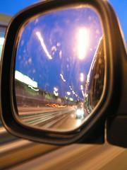 DSCN8861 (video_max) Tags: daily mirror specchio notte colori strisce luci tangenziale roma rome macchina car sunset tramonto sera estate dietro guardar