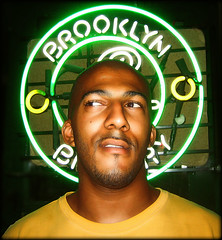 Saints of the Lower East Side, Part 5 (AnomalousNYC) Tags: street nyc portrait eastvillage mike topf25 beer face night outside topf50 topf75 lowereastside brewery brooklynbrewery anomalous anomalousnyc