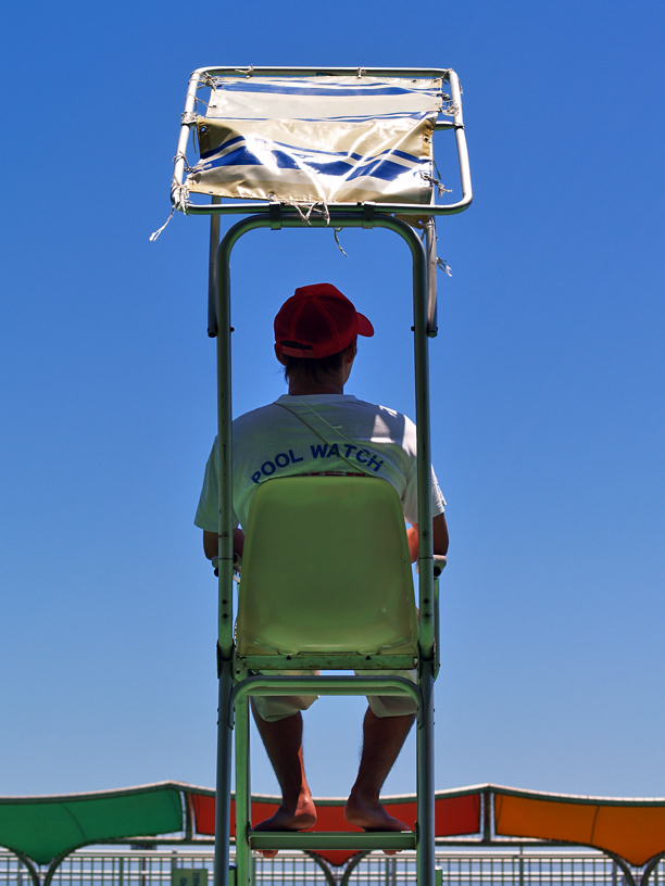 lifeguard at a pool