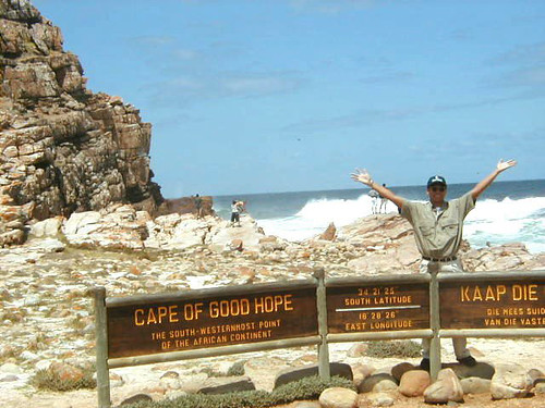 celebrating at the southernmost tip of Africa (the mainland, at least)