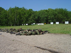 Fellow soliders firing (German Chocolate Ladies) Tags: military 2weeksannualtrainingforguard annualtraining nationalguard 34thmpcompany campripley germanchocolateladies geotagged geolat46123284 geolon94396505