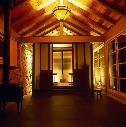 Sauna Interior Night