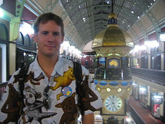 Ian in the QVB (lloydi) Tags: ian mambo sydney australia shoppingmall nsw newsouthwales qvb queenvictoriabuilding