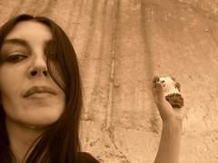 jasmund 44 (Gaga Nielsen) Tags: selfportrait me self ego moi rgen ich ostsee selbstportrait ruegen gaga kste kreidefelsen sassnitz selbsportrait hhnergott kreidekste hhnergtter jasmund i gaganielsen