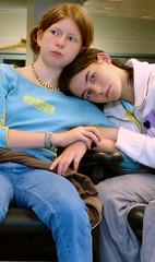 best_friends2crop (sillydog) Tags: minnesota 2005 bloomington people msp airport girls friends portrait topv111