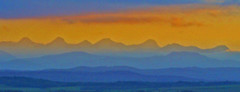 Rockies from Highway 22 (Chris & Lara Pawluk) Tags: sunset summer wallpaper foothills canada rockies deleteme10 alberta july2005canadavisit banffandjaspernationalparkscamping