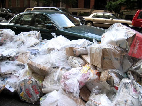 garbage pickup day in Chelsea