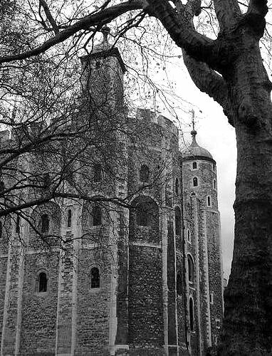 White Tower b&w