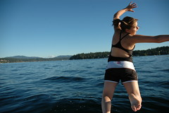 Jumping in (Mark Griffith) Tags: blue lake boat washington jump boating blogged kiahgriffith issaquah lakesammamish jumpology nikonstunninggallery mbgphotoframe