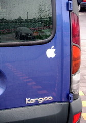 my new kangoo (chipmonk) Tags: 2005 auto blue apple car sticker kangoo applestickers applestickr