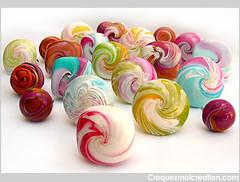 Les bagues du mois d'aot (lavomatic) Tags: colors handmade main explore rings clay argile fait bagues polymer polymre