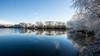 Cold lake (++sepp++) Tags: bayern deutschland landscape landschaft landschaftsfotografie lechfeld wetter winter heiter sonnig sunny raureif hoarfrost lake see bäume trees bavaria germany spiegelung reflection mirror