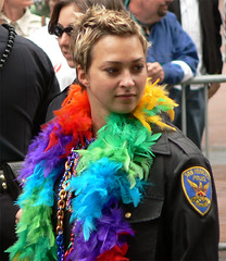 (Magali Deval) Tags: sanfrancisco interestingness rainbow feminine police photofriday gaypride interestingness285 i500 photofridayfeminine explore03aou2005