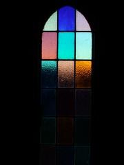 My Porch Window (Catching Magic) Tags: light church leadlight abstract spiritual flickeritis mc05negativespace tiraudan