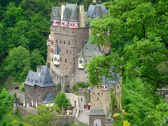 Burg Eltz Castle (Tjflex2) Tags: old trip travel trees vacation holiday green castle history castles stone germany interesting ancient burgeltz engineering medieval explore valley views historical 500 bushes 1000 masterpiece burg eltz 5photosaday bej anawesomeshot top20travelpix