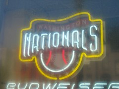 Nationals Beer Sign