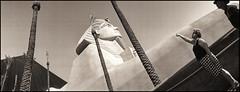 (shadowplay) Tags: lasvegas tourists luxor pharaoh noblex fauxegypt itsongselection1 perfectingladolcevita itsong–noblex