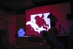 Ruby Shadow Puppets (Scott Laird) Tags: foscon05 portland or foscon whytheluckystiff shadowpuppet