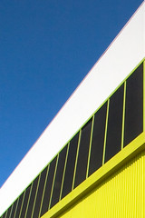 slice (Orrin) Tags: blue sky abstract yellow wall architecture guesswherela losangeles topv999 guessed minimalism ok