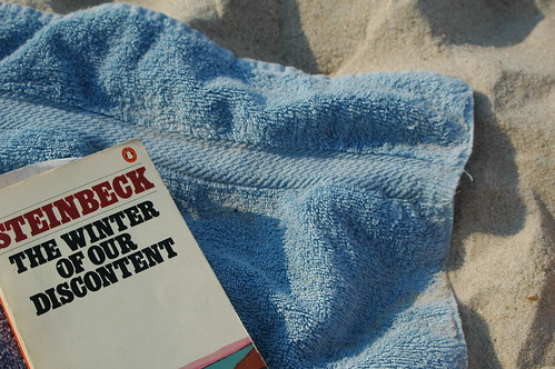 book on towel