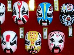 Masks (mayakamina) Tags: masks sale display decoration social illusion china