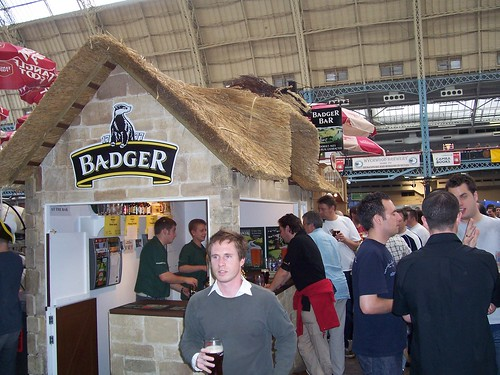 Badger Brewery's thatched bar