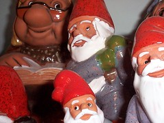 tomte group 2 (A2ZMpls) Tags: macro berg gnome sweden swedish rolf pottery troll tomte rolfberg