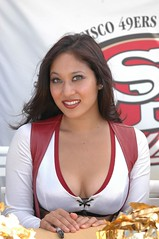 Audrey (CoachCashMoney) Tags: sf sanfrancisco girl lady female football cheerleaders 49ers bonita goldrush trainingcamp maganda 9ers goldrushgirls simpatica