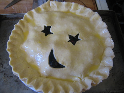 Uncooked:  blackberry pie
