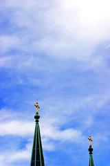 CRW_0432 (olvwu | ) Tags: street blue roof sky usa macro church ga georgia cross cathedral snapshot savannah stjohnthebaptist jungpangwu oliverwu oliverjpwu olvwu jungpang