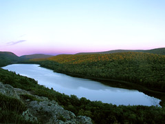 Lake of the Clouds by Night (SpringChick) Tags: statepark sunset lake reflection clouds forest mirror dusk michigan scenic greatlakes michiganparks serendipity upperpeninsula lakesuperior porcupinemountains random1 lakeoftheclouds porkies ontonagoncounty specland lsct springchickfavs springchickup debslifeblog springchickfb