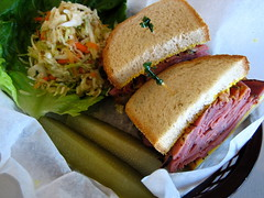 The (nearly) real deal 01. (hfabulous) Tags: grandopening vancouver restaurant deli bakery jewish nosh sollys pastrami sandwich pickles coleslaw review critic