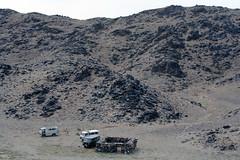 Back To The Vans (MykReeve) Tags: mongolia gobidesert gobi desert petroglyphs bichigtkhad bayanmountainrange vans rock rocks
