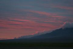 A Pink Tinge (MykReeve) Tags: mongolia gobidesert gobi desert gobicamelsgercamp clouds hills red sky sunset