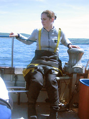 diving in plymouth (squeezemonkey) Tags: uk sea portrait boat diving deck diver drysuit