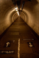 Greenwich foot tunnel (_nod) Tags: uk brown london foot path grunge greenwich tunnel mostinteresting 0001 nod pedway nocycling greenwichfoottunnel