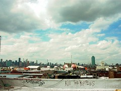 yuppies dead (justiNYC) Tags: nyc rooftop skyline brooklyn greenpoint yuppies
