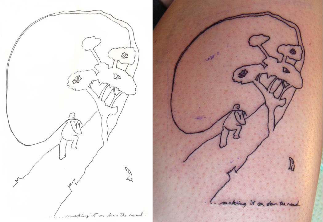 drawing and tattoo