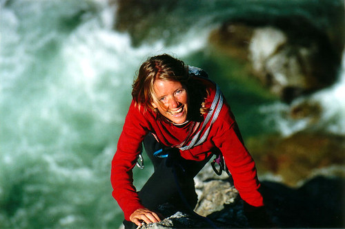 Priska climbing the classic Star Check