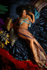 Seductive Moroccan (President of the plastic models club) Tags: girl moroccan henna jewel color silk seductive art fashion portrait