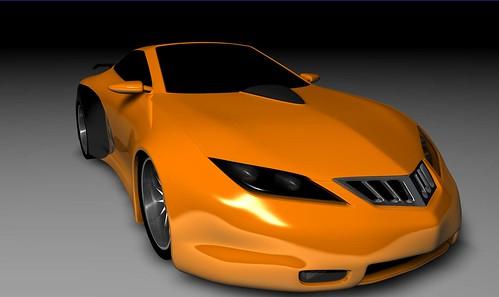 Chrysler Hemi Cuda rendering