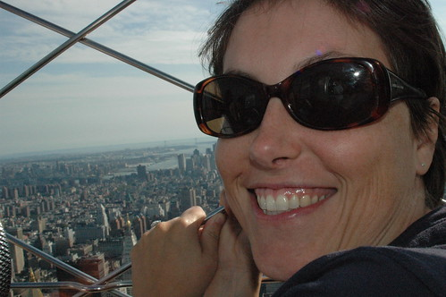 Kelly at top of Empire State Bldg