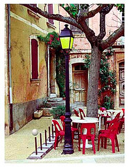 Cafe Orb 4 (gholmes) Tags: france art cafe orb story photograph impression manipulate roussian openaircafes