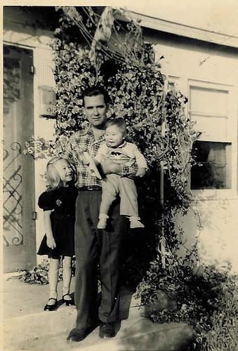 Grandpa with Babies 1 & 2 1948