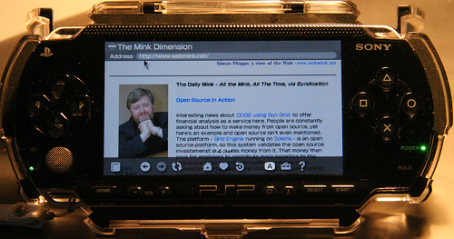Photo of PlayStation Portable browser