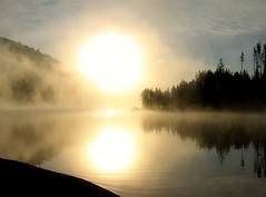 Lemolo Lake Sunrise (mhawkins) Tags: lemolo lake sunrise mist oregon sun