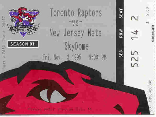 November 3, 1995 - Raptors