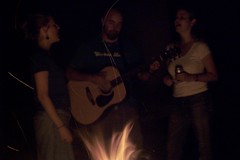 me, Rob, and Erin singing by the fire (McCLeah) Tags: photos courtesy shaun anseladams irving