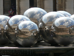 Balls of steel (Lazy B) Tags: paris fz5 reflections ball sphere polished 20topfaves2005