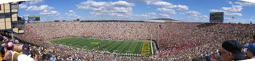 Panorama shot Michigan Stadium